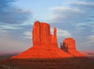 Butte at sunset in Monument Valley